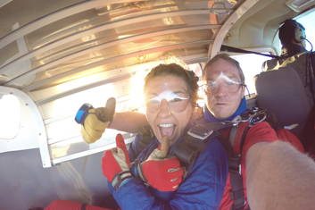 It is time to jump out of a plane!